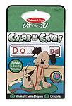 Color-N-Carry: Animals - ON the GO Travel Activity - Color-N-Carry travel coloring books are a travel toy and art activity in one! This animal-themed set has a built-in set of eight crayons that stores neatly at the back of the book.