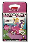 Color-N-Carry: Fairy Tale - ON the GO Travel Activity - Color-N-Carry travel coloring books are a travel toy and art activity in one! This fantasy-themed set has a built-in set of eight crayons that stores neatly at the back of the book.