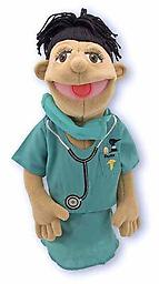 "Surgeon Puppet - Melissa and Doug Puppets Scalpel! Sutures! Dr. Susan Chartwell is ready to ""Scrub Up"" in order to bring better health to everyone you know"
