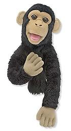 Chimp Puppet - Melissa and Doug Puppets Young puppeteers will go bananas with this easily animated chimp puppet!