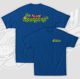 Nessy T-Shirts Nessy T-shirts are available in youth and adult sizes and feature a small Nessy logo on the upper left chest and a large Nessy logo centered on the back.