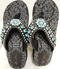 Flip Flops black Turquoise - Sandals with a wedge heel
