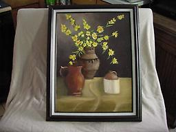 """3207 Still Life with Yellow Flowers 18 x 24"""", oil on canvas, framed$350.00"""
