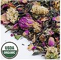White Rose Organic White Tea 1 oz. - A soothing, delicious ,healthy, white tea, blended with pink rose petals and lovely white chrysanthemum for a soothing brew. The perfect end to a hectic day.