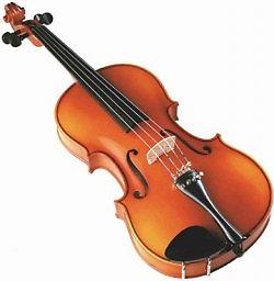 Little Kids Instruments Beginner Violin Package The Little Kids Instruments beginner Violin features hand carved solid Spruce top, maple back and sides, beautiful inlaid purfling, varnish finish, full Ebony hardware.