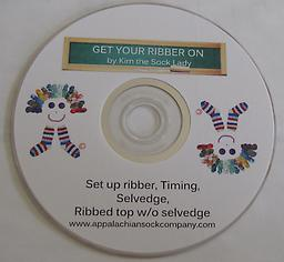 DVD Get your Ribber ON Instructional video on successfully using your ribber to knit ribbed socks.