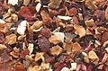 Ruby Fruit Organic 2 oz. - Caffeine free blend of dried fruits. A sweet, fruit blend with a beautiful red color. You will be asking for more! Great iced.