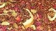 Fireside Rooibos 2 oz. Rooibos with spices. This blend of spices will warm you on a cold winter day. Try this with milk and a sweetener for an herbal spice chai. Also good iced.