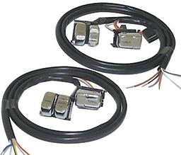 HANDLEBAR SWITCH WIRING KITS FOR ALL MODELS 1996/2006 V-FACTOR Handlebar Wiring Kit with black lettering on Chrome switches Standard duty with smooth switches Fits all models 1996/2006 (Imported)
