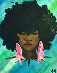 Sista Nature (ORIGINAL SOLD)-prints only - Acrylic on Canvas, (20x16)-prints only 11x14, $40