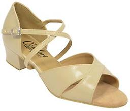 Comfort Ladies Wide Cross Sandals West Coast Swing dance shoe with 2 wide crossing straps.