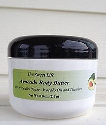 AVOCADO & CUCUMBER BODY BUTTER, 2 x 8oz Enjoy the refreshing scent of The Sweet Life's Avocado Body Butter made with Natural Avocado Oil, Avocado Butter and moisturizing Vitamins A & E.