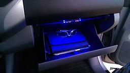 3VP LED Light A single color (dual LED) light designed for the center console and glove box. This light is activated by a reed switch and an activation magnet.