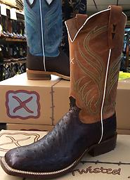 FQ OSTRICH TWISTED X BOOTS OILED FQ OSTRICH
