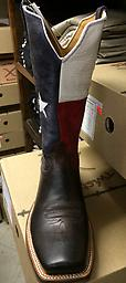 Men's Red River PWS Toe 12'' Boot - Chocolate / Texas Flag Men's Red River PWS Toe 12'' Boot - Chocolate / Texas Flag