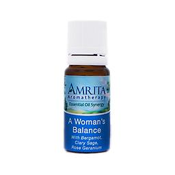 A Woman's Balance Essential Oil Blend A cheering, relaxing, soothing blend that eases the discomfort of menstruation and menopause. Size: 10ml