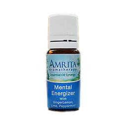 Mental Energizer Essential Oil Blend Optimizes mental performance, energizes the body, clarifies the mind and increases concentration and memory. Size: 10ml