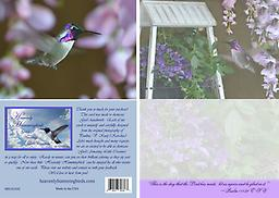 """HH1421GC 5"""" x 7"""" A gorgeous male Costas in Flight fills this card. It is a blank card, to be used for any occasion or just to send your personal note to a dear friend or loved one."""