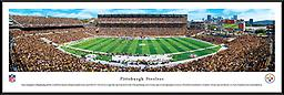 Heinz Field Home of the Pittsburgh Steelers Panoramic 14 x 40 Heinz Field Home of the Pittsburgh Steelers Panoramic 14w x 40h framed in Nielsen black metal frame with glass