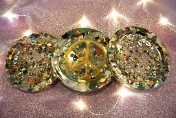 302-Orgone Coasters Designed to revitalize water and other liquids as well as preserving fruit and vegetables.