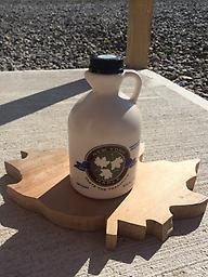 Quart NYS Pure Maple Syrup One Quart of NYS Pure Maple Syrup in a plastic jug.