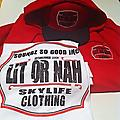 Red, White & Black Package - Heavy Weight Red Hoodie, Red,Black & White Hat w/Red, Black & white T shirt