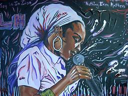 Hilluva a Voice -Lauryn Hill Beautiful painting of Lauryn Hill at the Apex of her career. Very Realistic yet Impressionistic and abstract. Goes great with light purple home decor. Makes an excellent original gift.