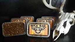 Buck Bar An OI/OI exclusive. A year-round attractant for deer, the Buck Bar remains pliable even in freezing weather. Just place the Buck Bar in and around your hunting area and the deer will come.