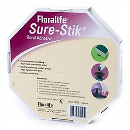 """Floralife Sure-Stik Floral Adhesive (Green) Easy-to-use 25' roll of green florists clay, aka floral adhesive putty, stays """"stuck"""", even in water. Ideal for anchoring pin holders, amongst other things."""