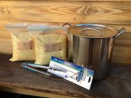 Rosin Baked Potato Starter Kit Rosin Baked Potato Starter Kit (FREE SHIPPING) includes 12 qt stainless steel stock pot, 10 lbs Georgia Pine Gum Rosin, dial candy thermometer, and 12 in. tongs