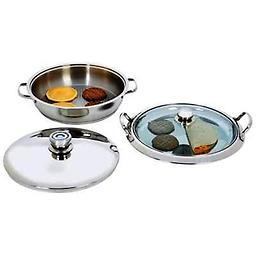 BN-Chef's Heavy-Gauge Stainless Steel 4pc Griddle Set Heavy-Gauge Stainless Steel 4pc Griddle Set Over stock discount price
