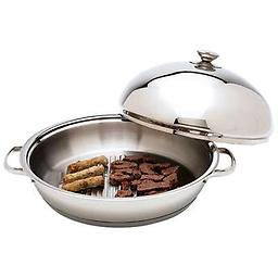 BN-Chef's 12-Element High-Quality, Heavy-Gauge Stainless Steel Round Griddle Chef's 12-Element High-Quality, Heavy-Gauge Stainless Steel Round Griddle