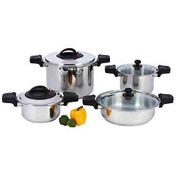 """BN-Precise Heat™ 8pc """"Waterless"""" 12-Element Stainless Steel Low-Pressure, Pressure Cooker Set Precise Heat™ 8pc """"Waterless"""" 12-Element Stainless Steel Low-Pressure, Pressure Cooker Set Code KT-PC8"""