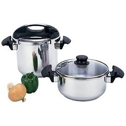 BN-Precise Heat™ 4pc T304 Stainless Steel Pressure Cooker Set Precise Heat™ 4pc T304 Stainless Steel Pressure Cooker Set