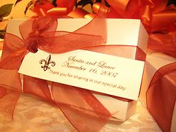 Elegant Wedding Favors per 50 (Sanita and Lance) Elegant Wedding Favors for Your Special Day. Send your wedding guests home with the splendid taste of New Orleans, Rosalyn's Pralines. A favor tied in perfect delight!
