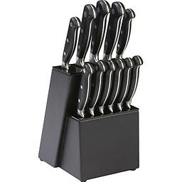 Forged Bolster 12pc Kitchen Cutlery Set With Wood Block 12pc Kitchen Cutlery Set With Wood Block