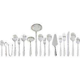 72pc Heavy-Gauge Stainless Steel Flatware and Hostess Set 72pc Heavy-Gauge Stainless Steel Flatware and Hostess Set