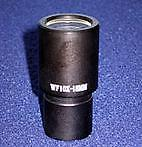 10x Widefield Eyepiece Standard diameter eyepiece. Provides 40x magnification with the standard 4x objective and 100x magnification with the optional 10x objective.