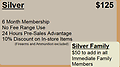 (201) Silver Membership - 6 Month Membership No Fee Range Use 24 Hours Pre-Sales Advantage 10% Discount on In-store Items (Firearms and Ammunition excluded)