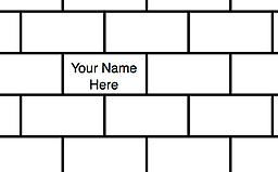 Willis School Engraved Brick Have your name engraved on a Willis Brick and displayed in the Willis Courtyard. Please fill in the information below in the comments section:(14 characters or less including spaces, 3 lines maximum).
