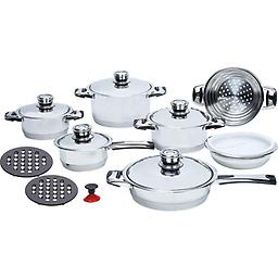 16pc 7-Ply High-Quality, Cookware Set High-Quality, Heavy-Gauge Stainless Steel Cookware Set Discounted for quick sale