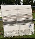 "Alpaca Throw Stripe - 100% US alpaca, this elegant white design is approx. 53"" x 70"". Made in the USA by Pendleton. Special product line, exclusive run. Limited quantities."
