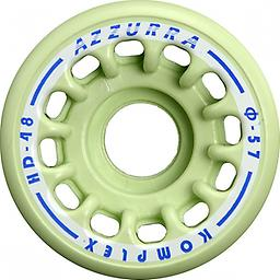 Freestyle Azzurra Wheel HD 48 Competitive series made of thermoplastic elastomer formulated by Komplex