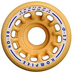 Freestyle Azzurra Wheel HD 50 Competitive series made of thermoplastic elastomer formulated by Komplex