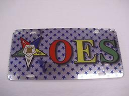 OES Car Tag OES car tag with blue stars