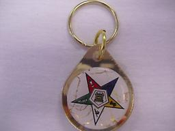 OES Shiny Gold Key Chain