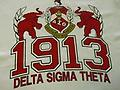 Delta 1913 with Elephants T-Shirt - With crimson print.