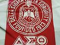 Delta Red T-Shirt with Founding Date and Shield - Dates.