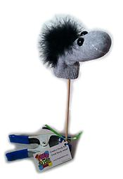 "Sock horse stick puppet 12"" Sock horse stick puppet - made by PoppArt Studios."
