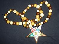 OES Wooden Beads Medallion Star.
